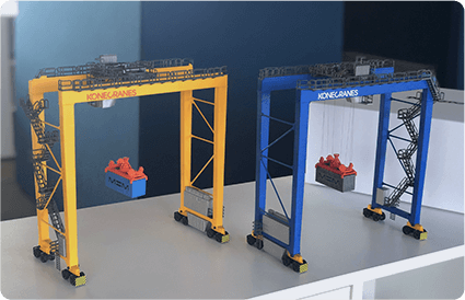 3D printed port crane models