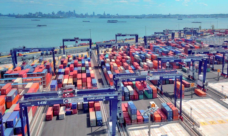 MHM Konecranes RMG Rail Mounted Gantry crane container handling