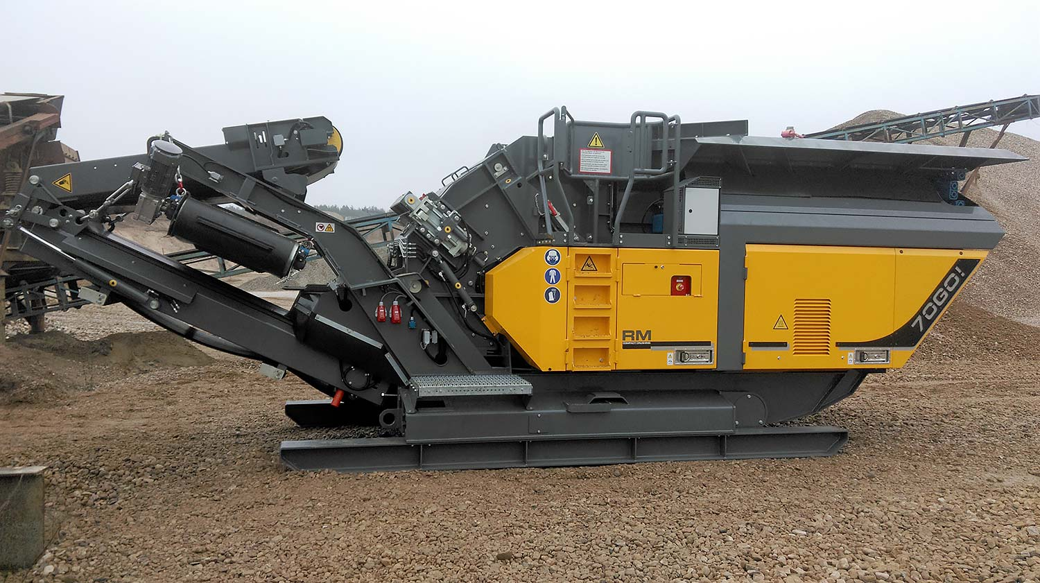 MHM new RM Rubble Master electric drive- RM70GO compact crusher