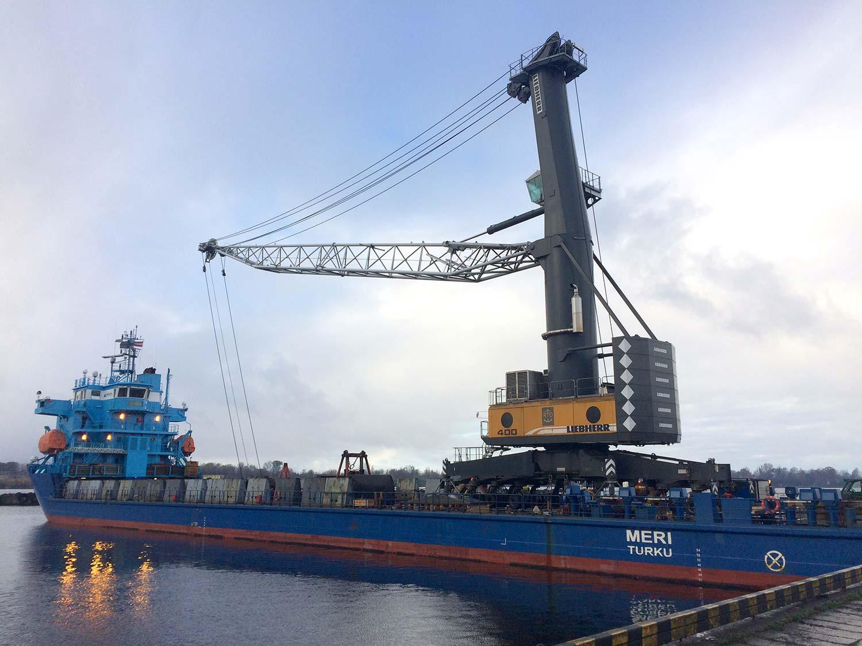 MHM used MHC mobile harbor crane Liebherr LHM400