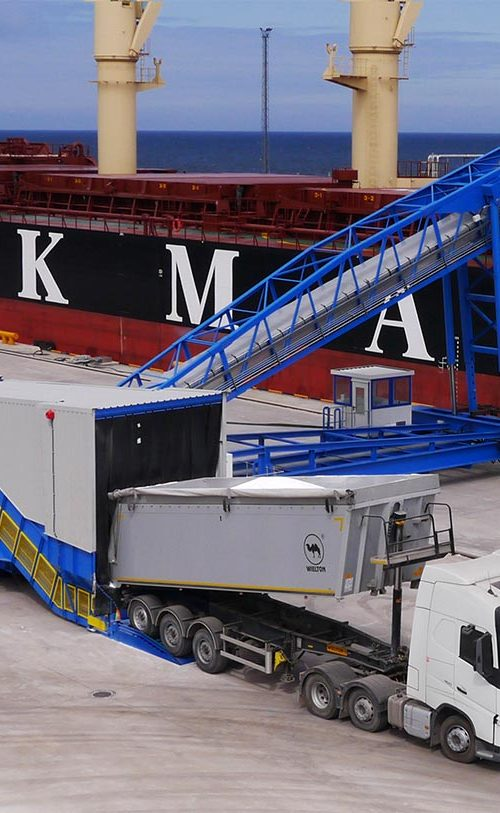 MHM SAMSON bulk material handling fertilizer shiploader